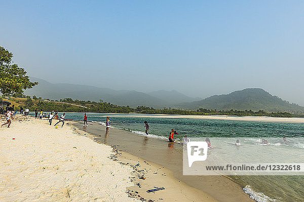 Two Mile beach  Sierra Leone  West Africa  Africa