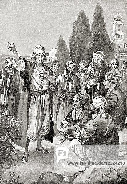 Sabbatai Zevi proclaims himself Messiah. Sabbatai Zevi aka Sabbatai Sevi  Shabsai Tzvi  and Sabetay Sevi  1626 – 1676. Sephardic ordained Rabbi and kabbalist who claimed to be the long-awaited Jewish Messiah. From Hutchinson's History of the Nations  published 1915.