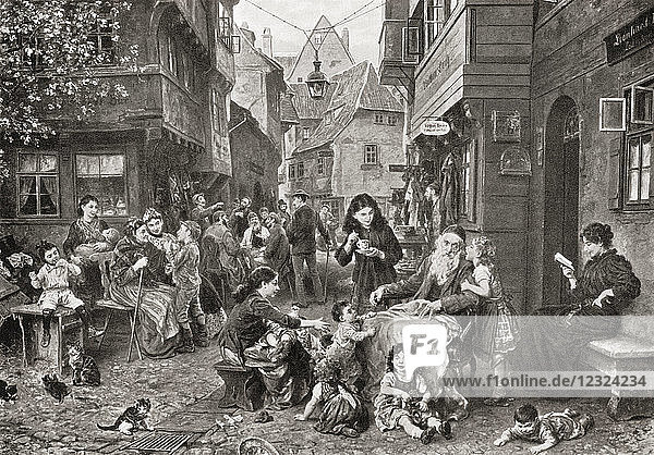 The Venetion Ghetto in the early 16th century. From Hutchinson's History of the Nations  published 1915.