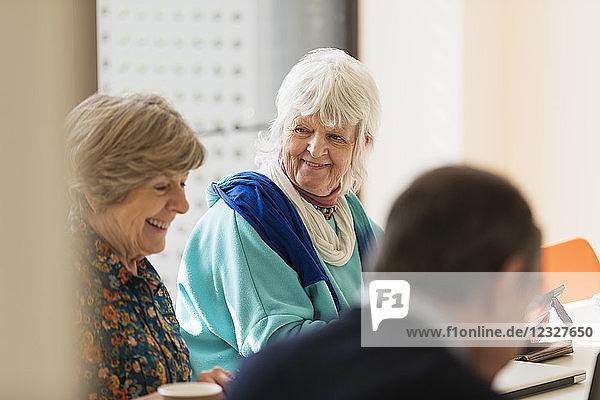 Senior businesswomen in meeting