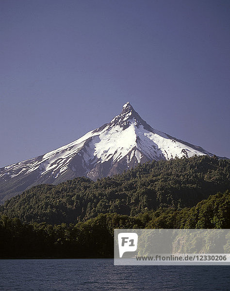 Chile,  Lake District,  Puntiagudo Volcano,  Lake Todos los Santos