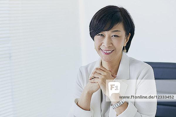 Japanese senior businesswoman in the office