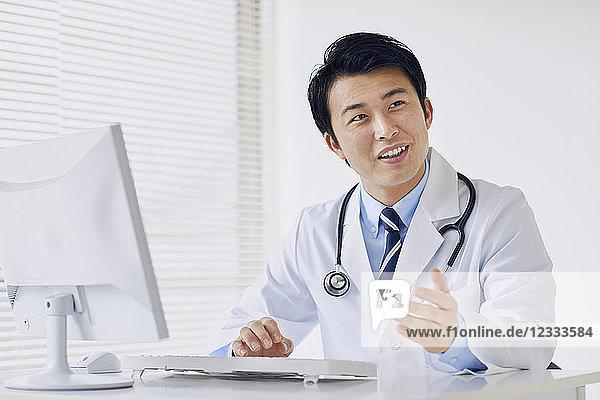 Japanese doctor in his studio