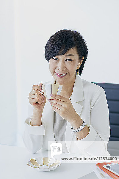 Japanese senior businesswoman in the office