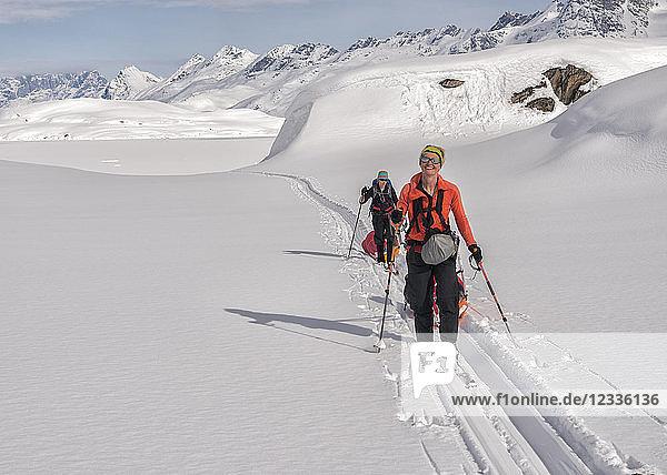 Greenland  Schweizerland Alps  Kulusuk  Tasiilaq  female ski tourers