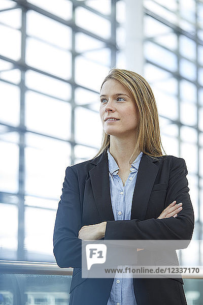 Portrait of blond young businesswoman