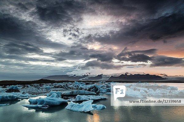 Jökulsárlón Glacier Lagoon  iceland  europe.