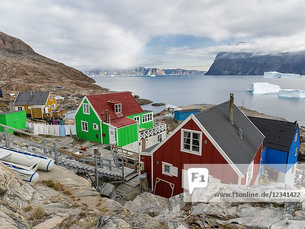 Small town Uummannaq in the north of west greenland. America  North America  Greenland  Denmark.