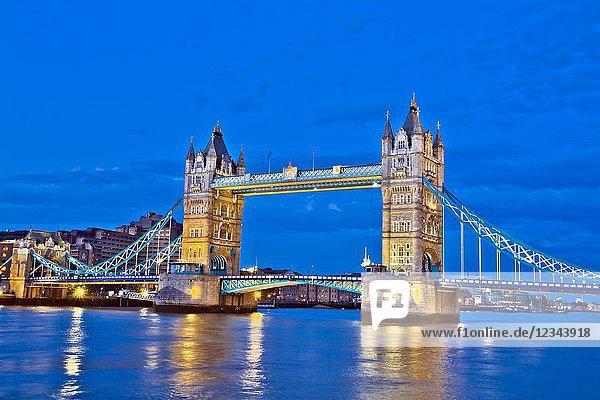 Tower Bridge  River Thames  London  England  UK  United Kingdom  Europe.