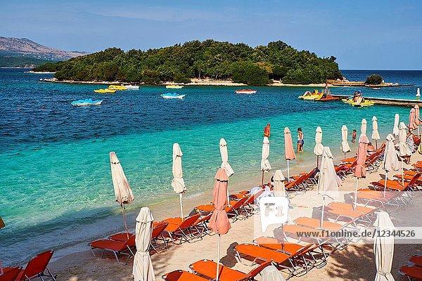 Albania  Vlore province  Ksamil beach.