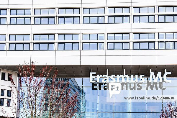 Entrance of the Erasmus MC University Hospital in Rotterdam  the Netherlands.