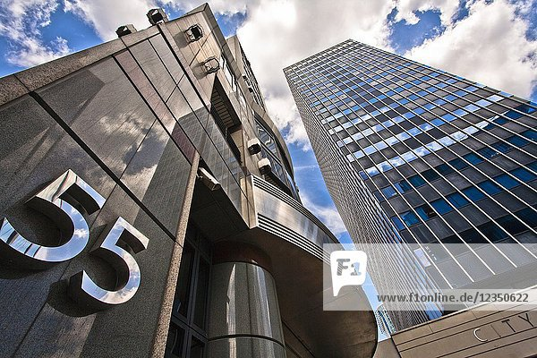 Office buildings and number fifty five  City of London  London  England  UK  United Kingdom  Europe.
