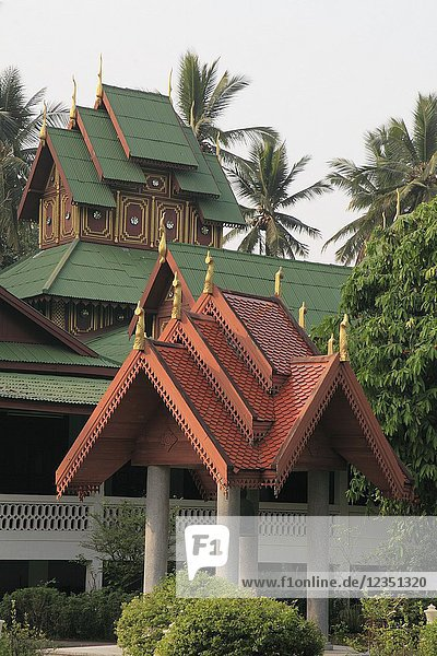 Thailand  Lampang  Wat Phra Fang  buddhist temple .