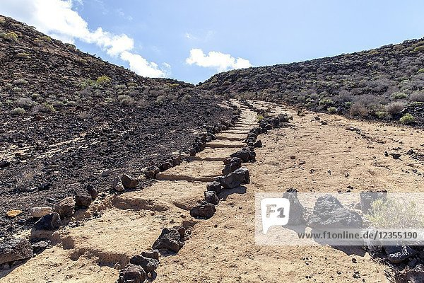Yellow mountain Natural Monument. Tenerife  Canary Islands  Spain.