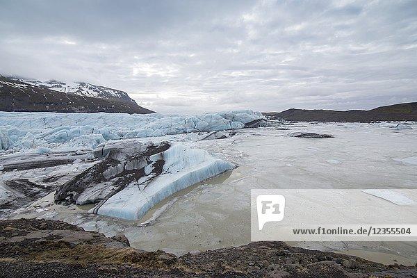 Svinafellsjokull glacier in Iceland.