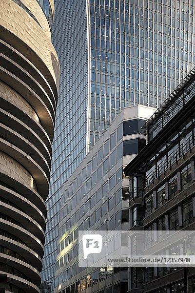 Modern Office Buildings  Walkie-Talkie Skscraper  City opf London  UK.