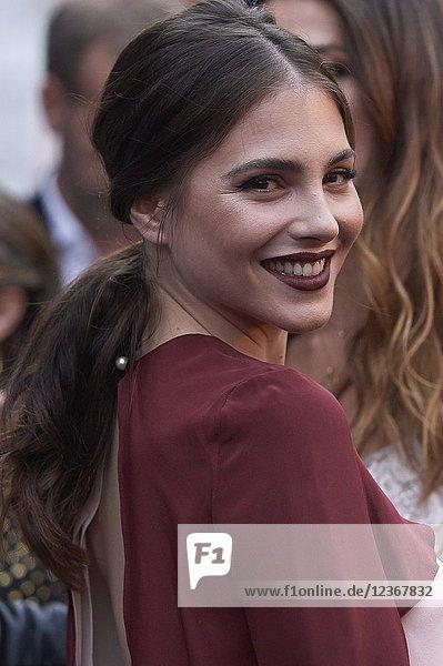 Andrea Duro attends L'Oreal Professionnel Hair Fashion night at Callao Cinema on June 7  2018 in Madrid  Spain