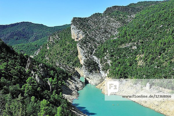 The reservoir of Canelles on the river Noguera-Ribagorzana. Lerida province  Spain