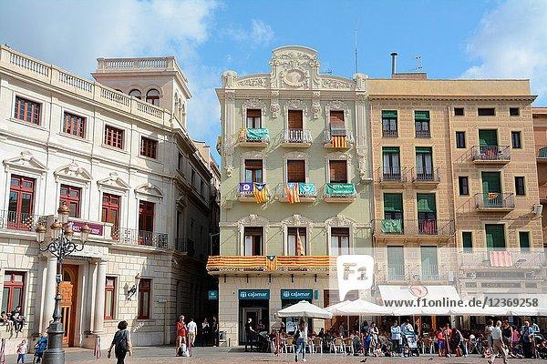 Plaça del Mercadal  Reus  Tarragona province  Catalonia  Spain