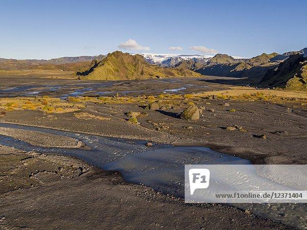 Landscape  Thorsmork  Iceland.