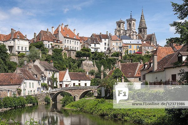 Semur-en-Auxois Cote-d'Or Bourgogne-Franche-Comte France.
