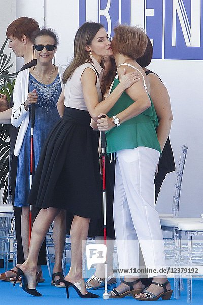 Queen Letizia of Spain attends the celebration of the'International Deafblind Day during the 'World Federation of the Deafblind at Plaza de SS.MM. los Reyes de Espana on June 27  2018 in Benidorm  Spain. Queen Letizia of Spain attends the celebration of the'International Deafblind Day during the 'World Federation of the Deafblind at Plaza de SS.MM. los Reyes de Espana on June 27  2018 in Benidorm  Spain