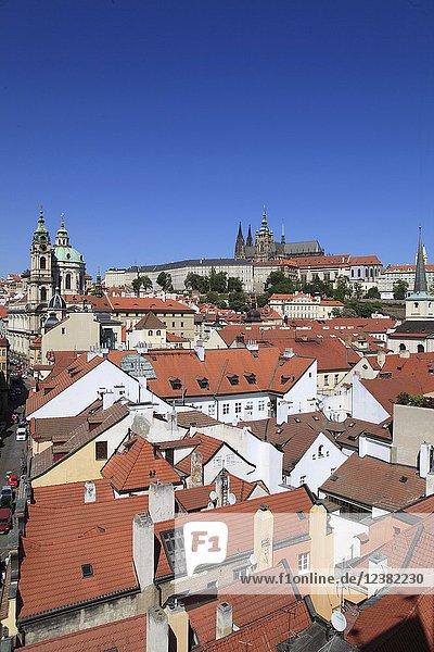 Czech Republic  Prague  skyline  Lesser Town  Mala Strana  Castle .