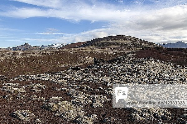Volcanic landscape  Snæfellsnes Peninsula  Western Iceland  Iceland  Europe