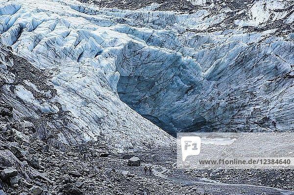 Gletscherabfluss des Fox-Gletschers  Südinsel  Neuseeland  Ozeanien