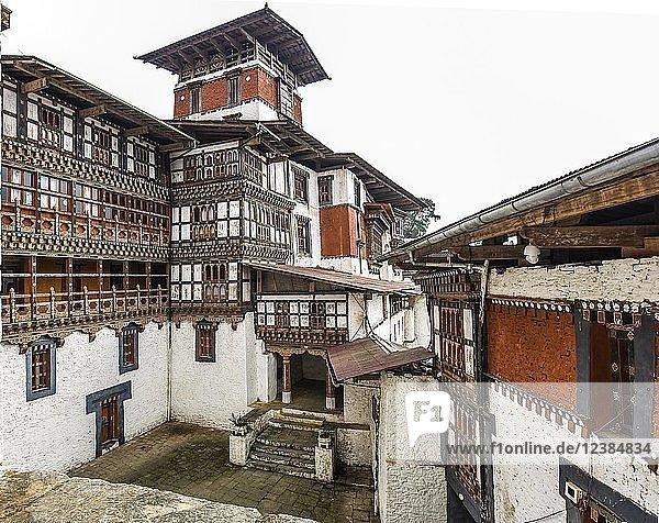 Größte Klosterfestung  Trongsa Dzong  Trongsa  Himalaja-Region  Bhutan  Asien Größte Klosterfestung, Trongsa Dzong, Trongsa, Himalaja-Region, Bhutan, Asien