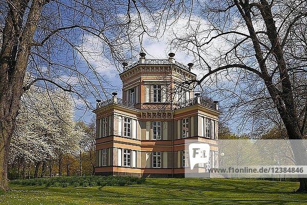 Haus Greiffenhorst im Frühling  Krefeld  Niederrhein  Nordrhein-Westfalen  Deutschland  Europa