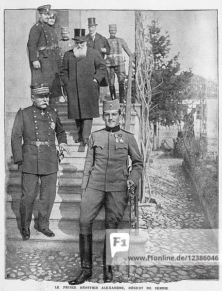 Erbprinz Alexandre  Serbien Regent  1915  Serbien  Europa