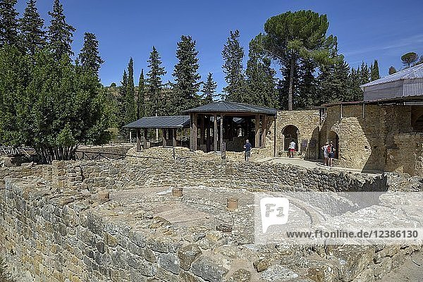 Ansicht der Villa Romana del Casale  römische Villa aus dem 4. Jahrhundert n. Chr.  Piazza Armerina  Provinz Enna  Sizilien  Italien  Europa