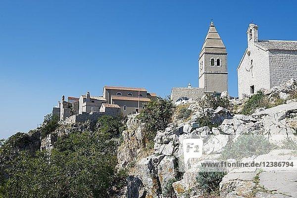 Pfarrkirche der Heiligen Jungfrau Maria  Lubenice  Insel Cres  Kvarner Bucht  Kroatien  Europa