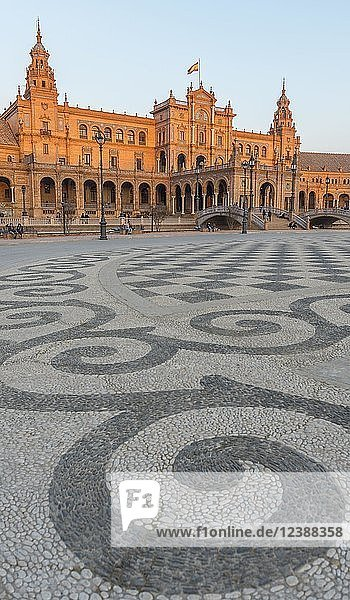 National Geographic Institute  Plaza de España  Sevilla  Spanien  Europa