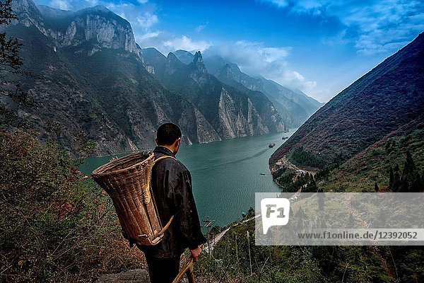 Scenery of Wuxia County Chongqing City China