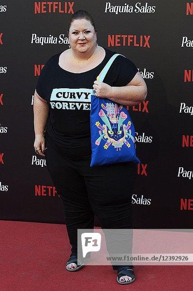 Itziar Castro attends 'Paquita Salas' Netflix Series Premiere at Callao Cinema on June 28  2018 in Madrid  Spain