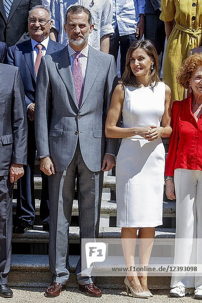King Felipe VI of Spain and Queen Letizia of Spain attends Royal audiences at Zarzuela Palace on July 10  2018 in Madrid  Spain