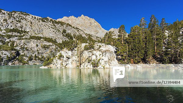 Second Lake under the Palisades  Big Pine Lakes basin  John Muir Wilderness  California USA.