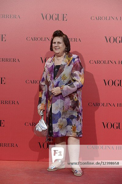 Suzy Menkes attends Vogue 30th Anniversary Party at Casa Velazquez on July 12  2018 in Madrid  Spain