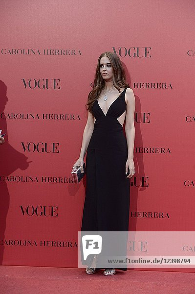 Clara Alonso attends Vogue 30th Anniversary Party at Casa Velazquez on July 12  2018 in Madrid  Spain