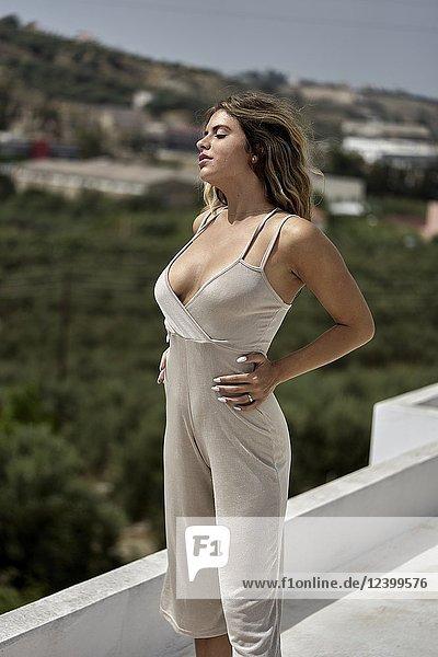 Greece  Crete  Heraklion  woman