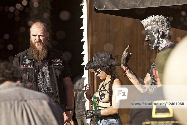 Metallic atmosphere at the VIP of the Hellfest festival 2018  Clisson  Loire Atlantique  France.