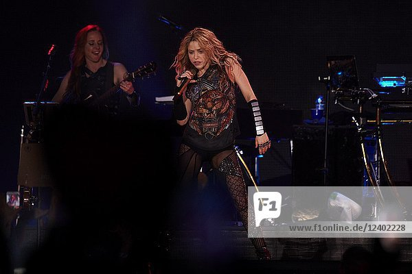 Shakira performs live on stage during the 'El Dorado World Tour' at WiZink Center on July 3  2018 in Madrid.(EDITORIAL USE ONLY)