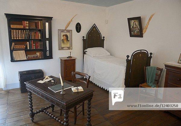 Interior in the Grazia Deledda house in Nuoro  Sardinia  Italy.