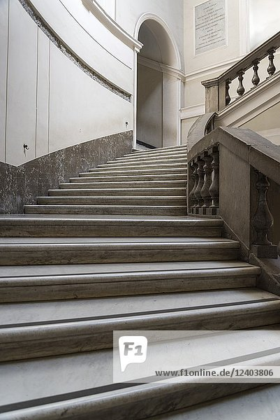 National Archaeological Museum  Grand staircase  Naples  Italy.