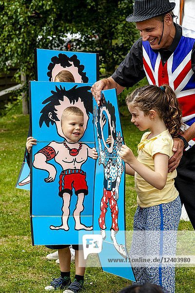 Mark â.Marcoâ.s Magicâ.Seymour Performing At The Annual High Hurstwood Village Fete  Sussex  UK.