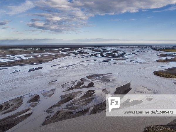 Markarfljot river  Markarfljotssandur outwash plains  South Coast  Iceland.