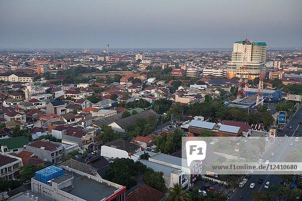Aerial view of Semarang  Indonesia.