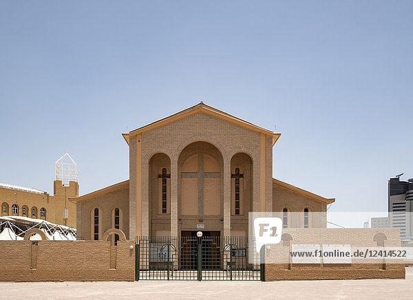Exterior of Holy Family Cathedral in Kuwait city  Kuwait.